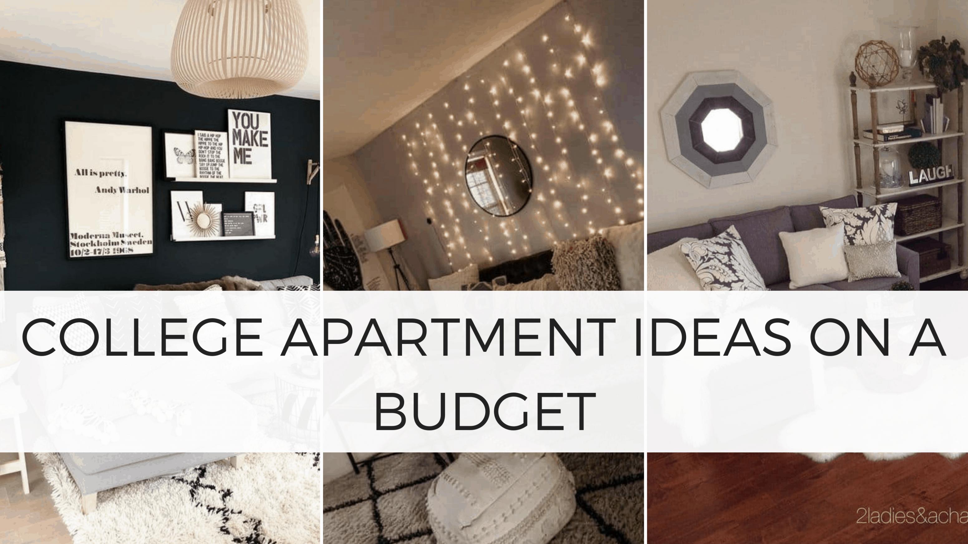 12 Genius College Apartment Decorating Ideas on a Budget - By  - Apartment Decorating Ideas For Students