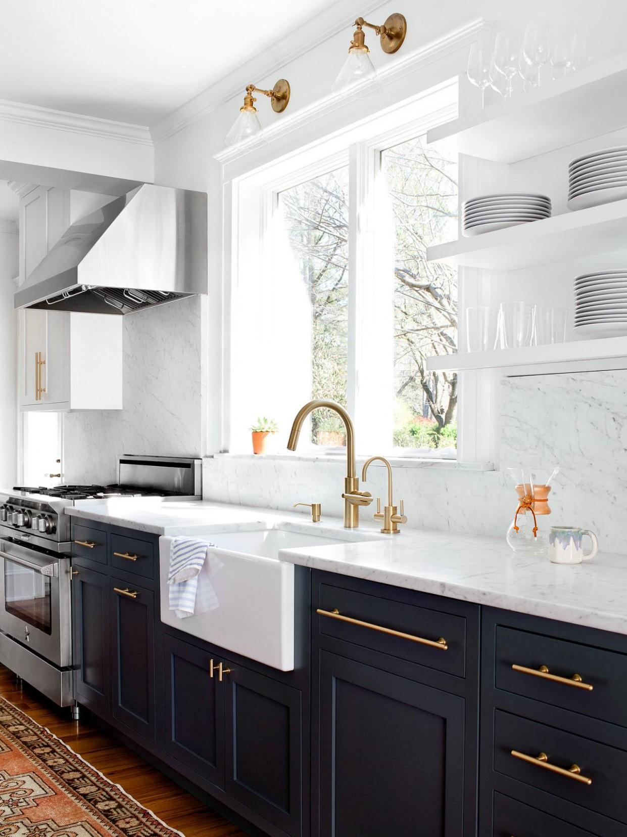 12 Gorgeous Kitchen Cabinet Hardware Ideas  HGTV - Long Cabinet Pulls Kitchen