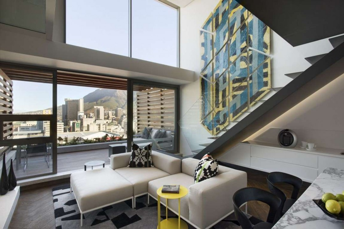 12 high-end apartment design ideas for a space under 12 square feet - Apartment Design Large Windows