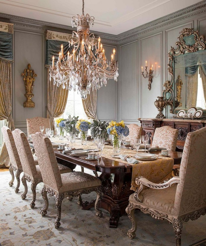12 Majestic Victorian Dining Rooms That Radiate Color and Opulence - Modern Victorian Dining Room Ideas