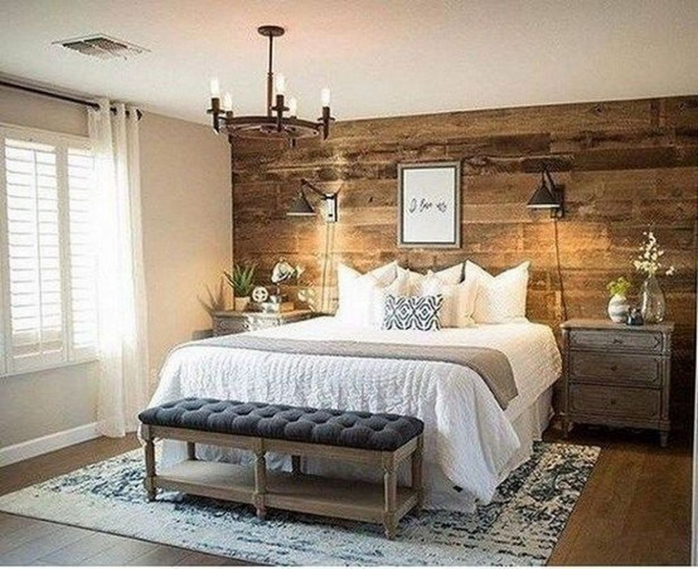12+ Modern Rustic Master Bedroom Design Ideas - LOVAHOMY - Bedroom Ideas Rustic