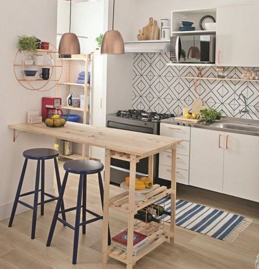 12 Perfect Small Apartment Kitchen Design And Decor Ideas - SearcHomee - Apartment Kitchen Design Ideas