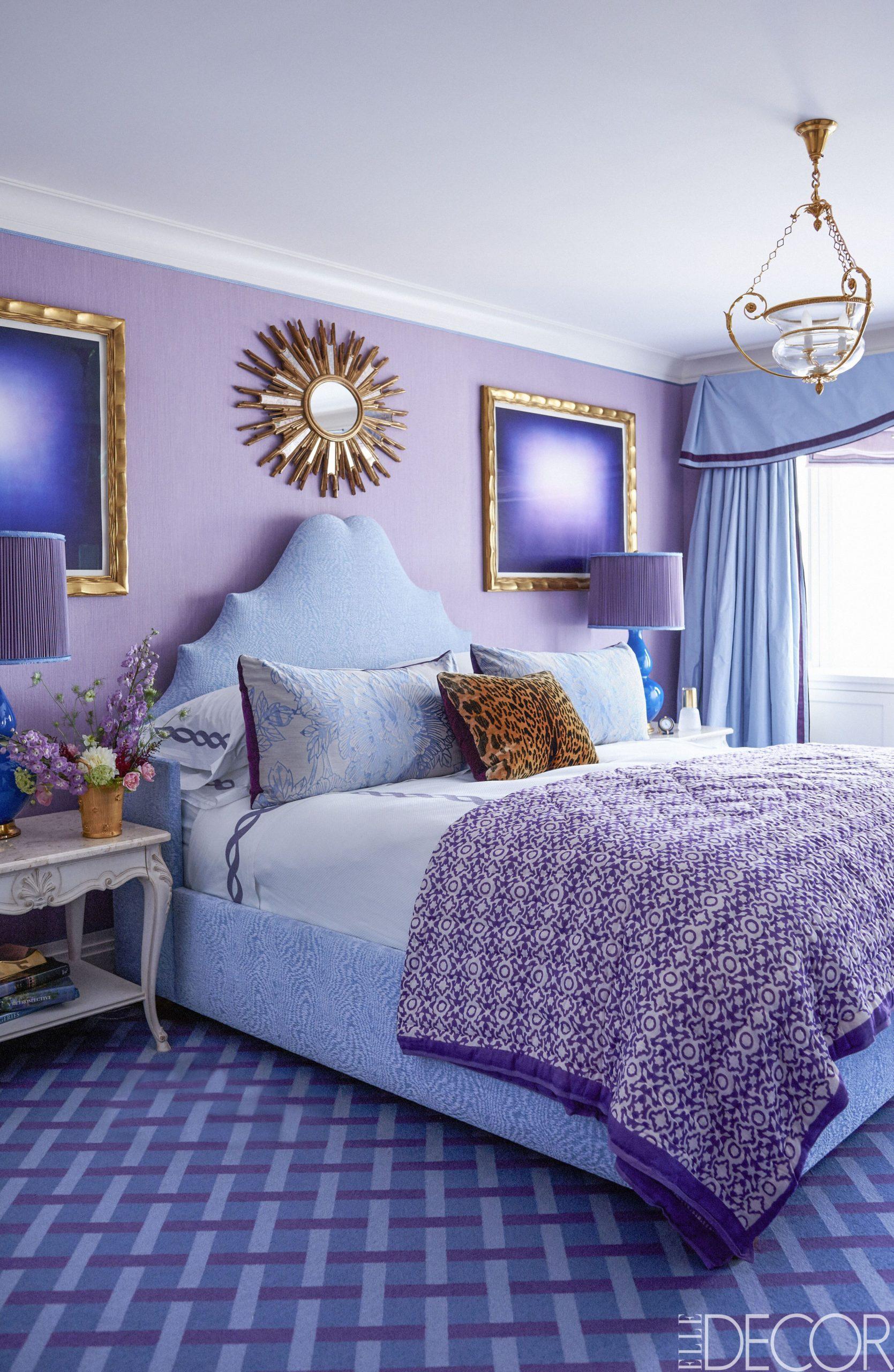 12 Purple Room Decorating Ideas - How to Use Purple Walls & Decor - Bedroom Ideas Purple