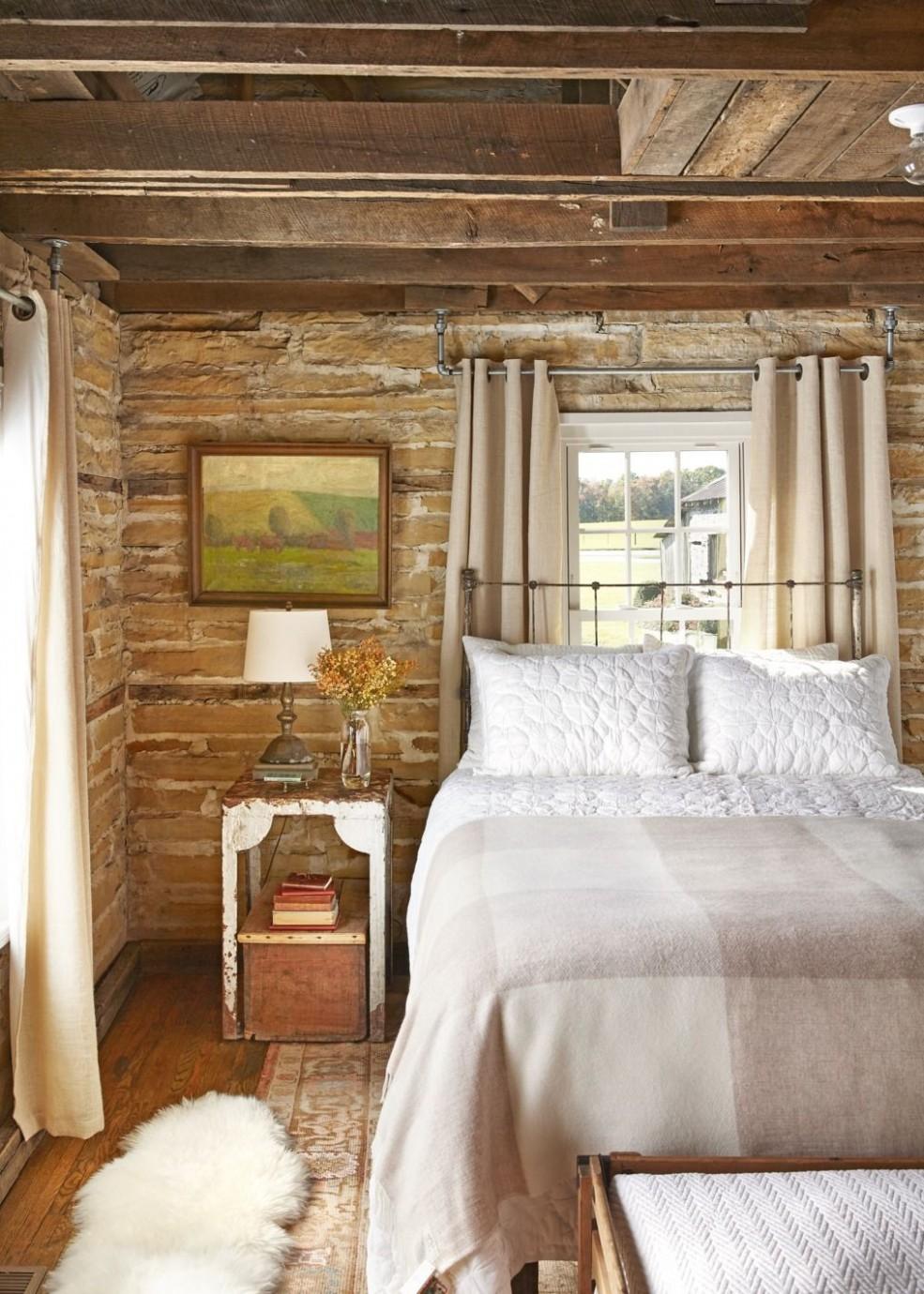12 Rustic Bedroom Ideas - Rustic Decorating Ideas - Bedroom Ideas Rustic