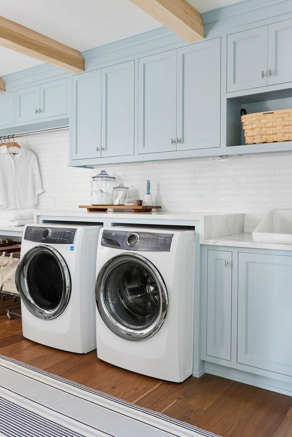 12 Small Laundry Room Ideas - Small Laundry Room Storage Tips - Laundry Room Near Bedrooms