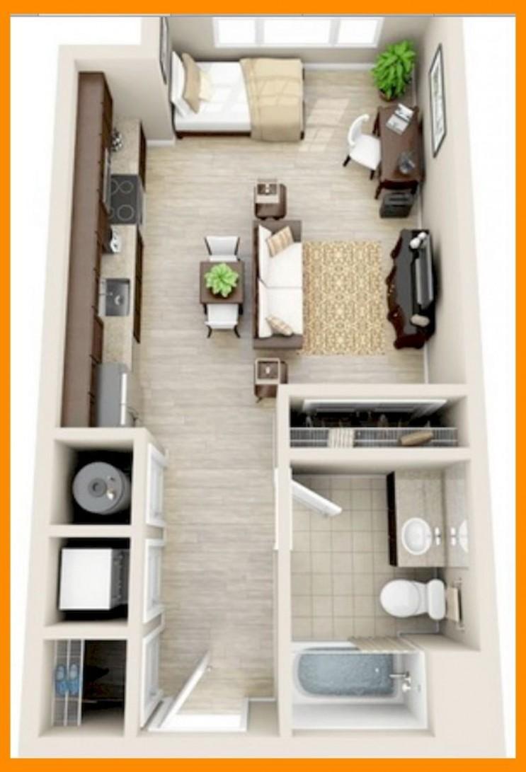 12+ Small Studio Apartment Layout Design Ideas  Small Apartment  - Apartment Decorating Layout Ideas