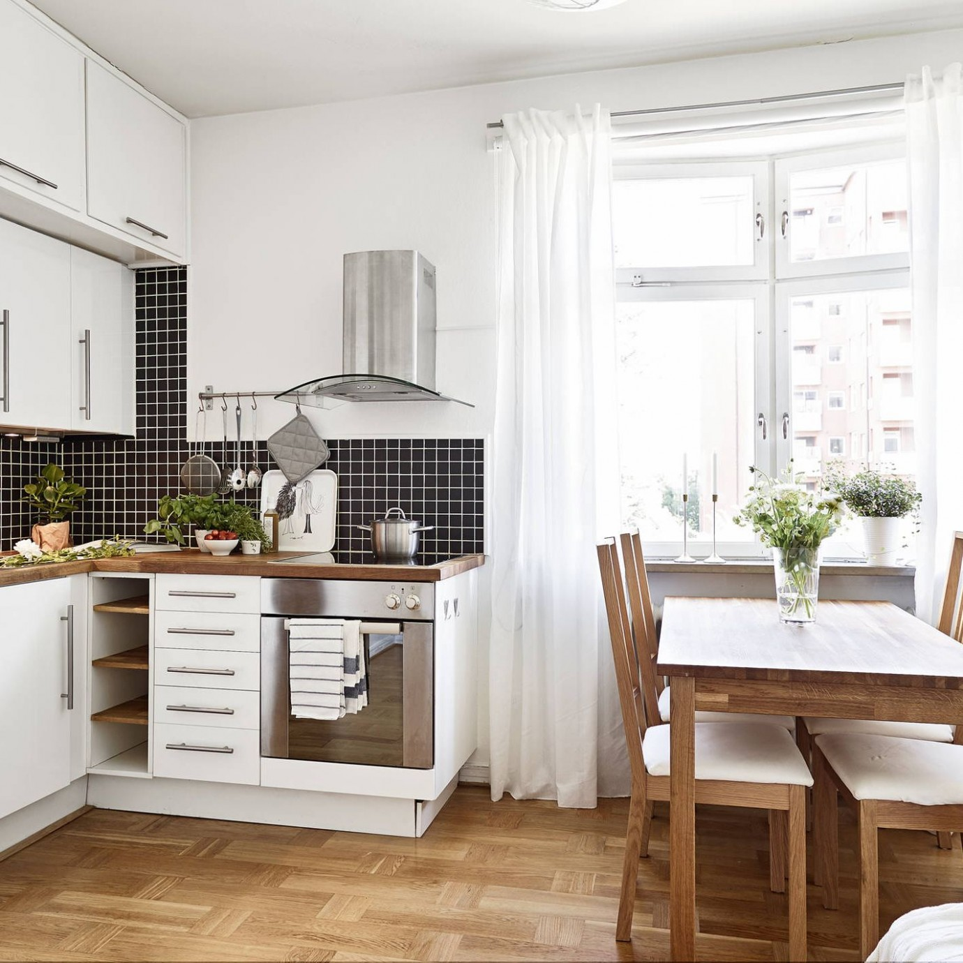 12 Space-Making Hacks for Small Kitchens - Small Dining Room Kitchen Ideas