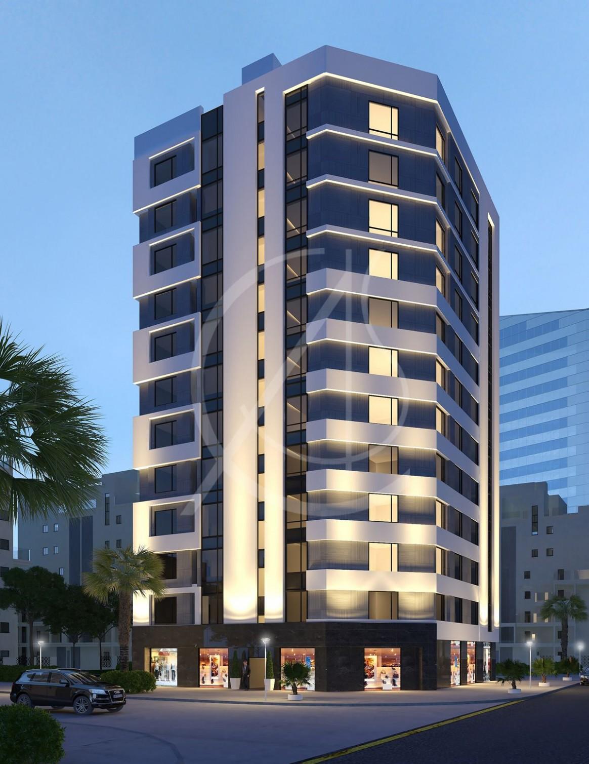 12 Story Modern Apartment Exterior Design - CAS  Apartments  - Apartment Design Building