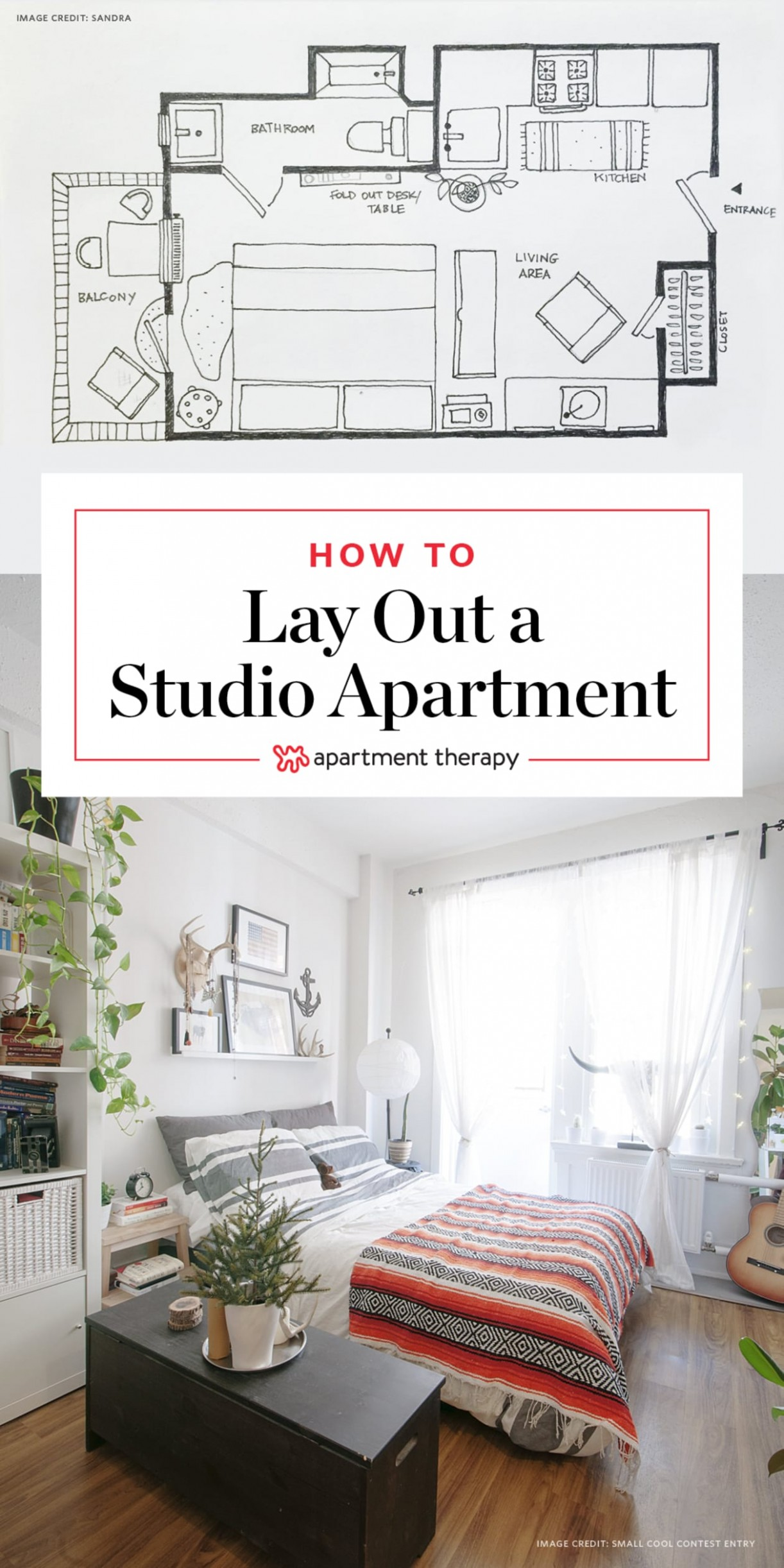 12 Ways to Lay Out a Studio Apartment  Apartment Therapy - Apartment Decorating Layout Ideas