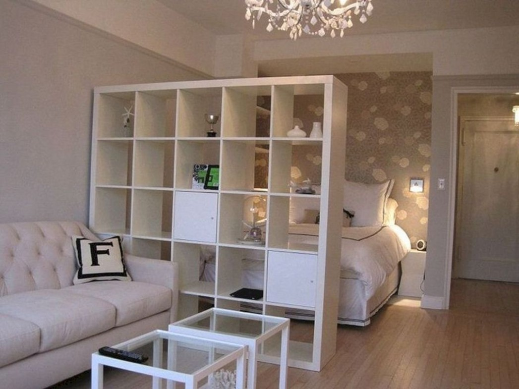 8+ Awesome Apartment Studio Decoration Ideas With Divider  - Apartment Decorating Ideas Ikea