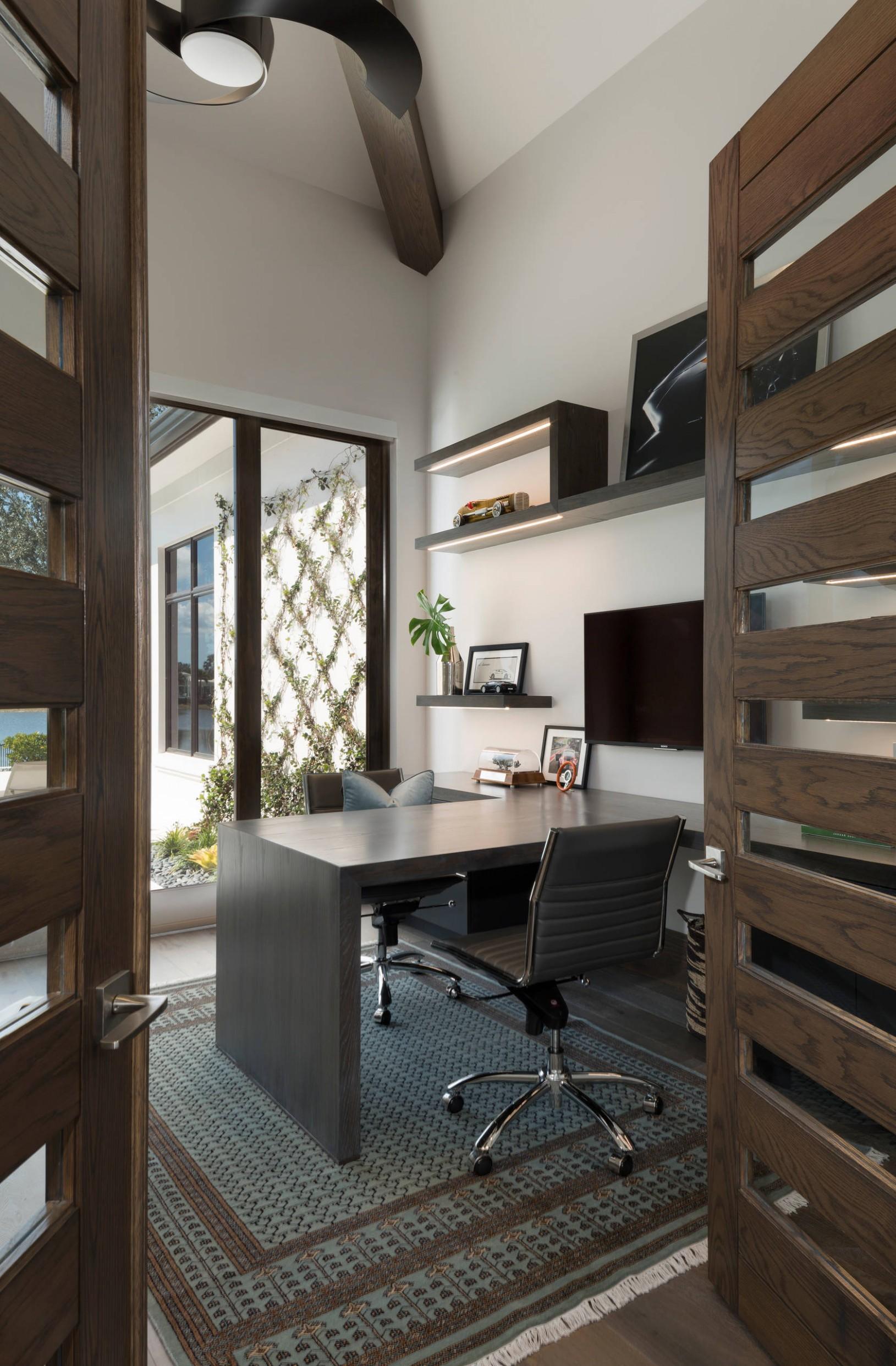 8 Beautiful Modern Home Office Design Ideas & Pictures  Houzz - Home Office Ideas Modern