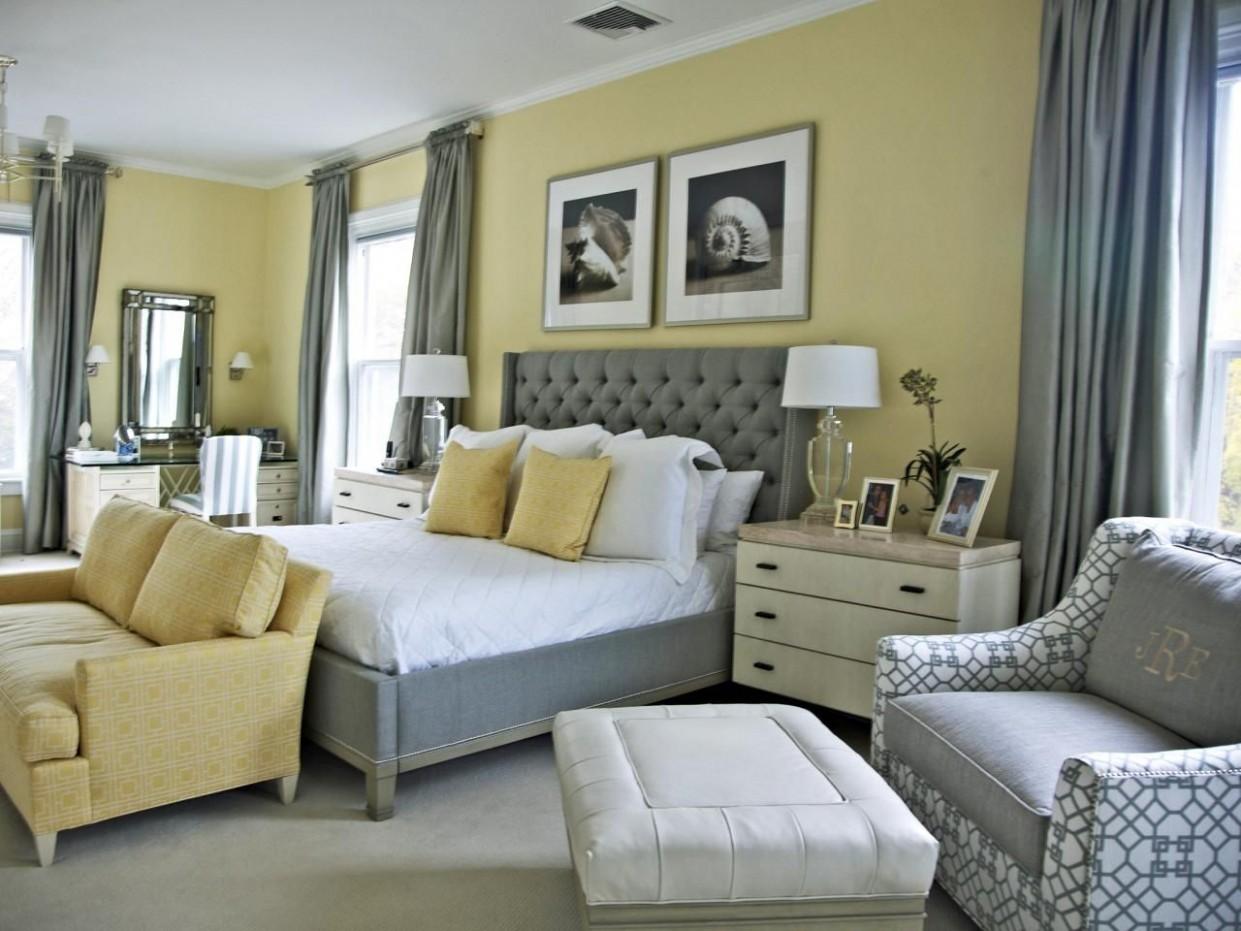 8 Cheery Yellow Bedrooms  Grey bedroom design, Light yellow  - Bedroom Ideas Yellow And Grey