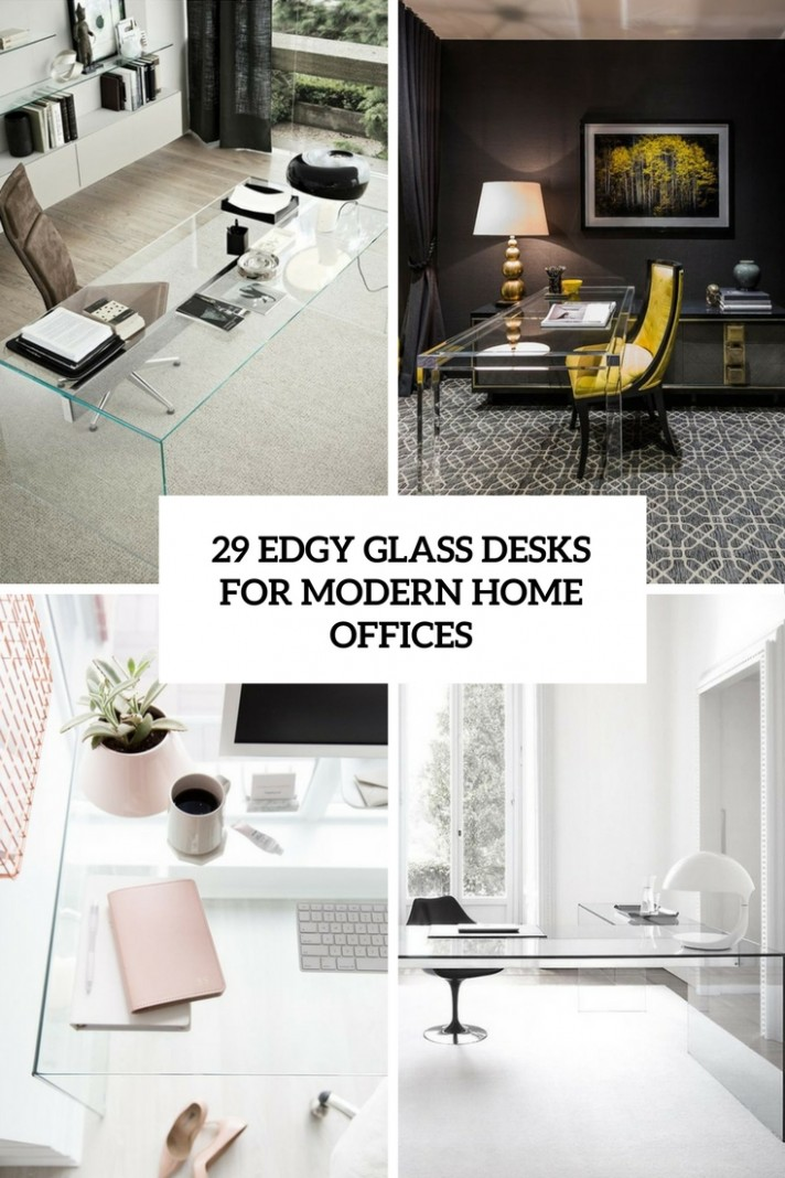 8 Edgy Glass Desks For Modern Home Offices - DigsDigs - Home Office Ideas With Glass Desk