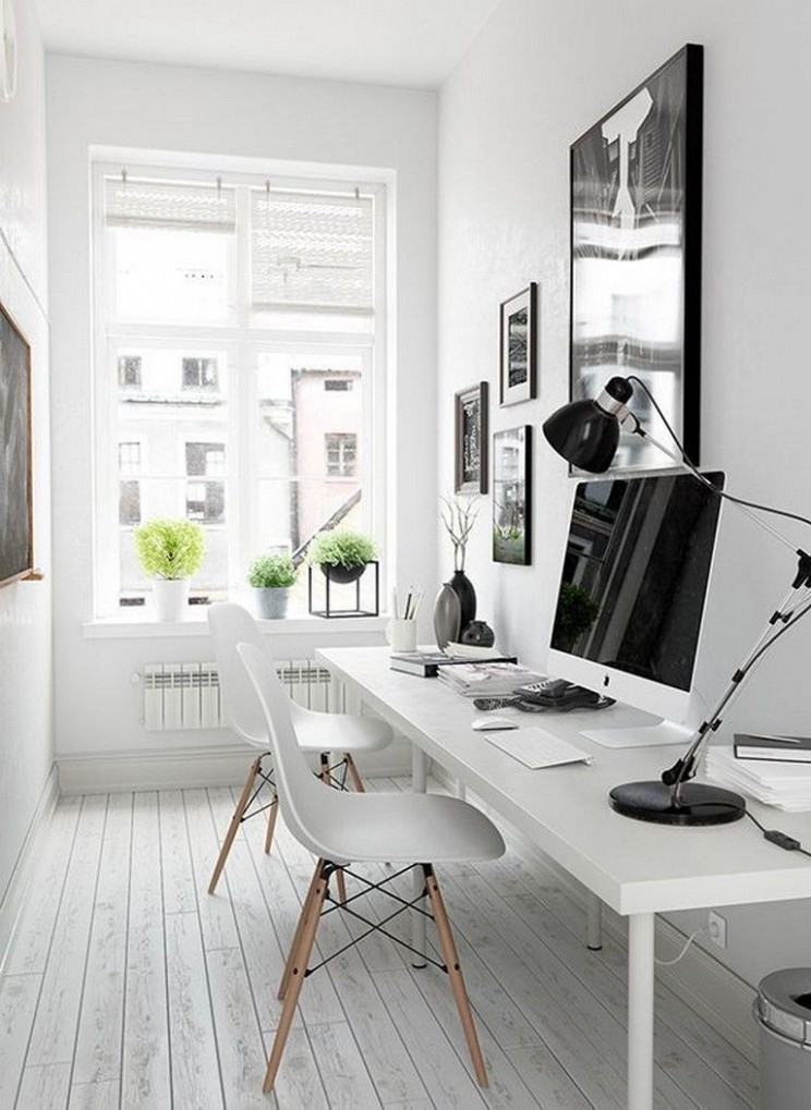 8 Elegant Office Decor Ideas For Small Apartment  Tiny home  - Apartment Office Design