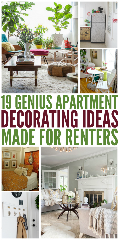 8 Genius Apartment Decorating Ideas Made for Renters  Diy home  - Rental Apartment Decor Ideas