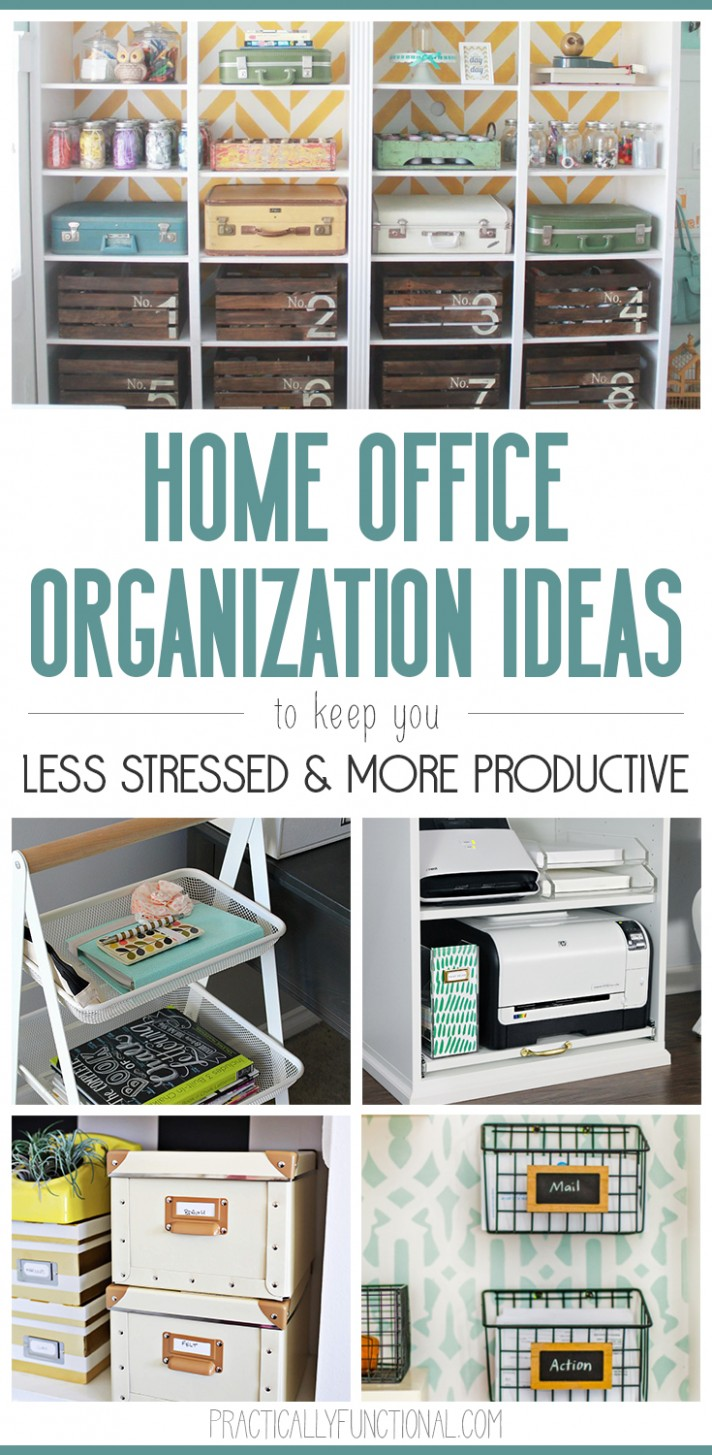 8 Home Office Organization Ideas - Quick Tips To An Organized  - Home Office Ideas Organization