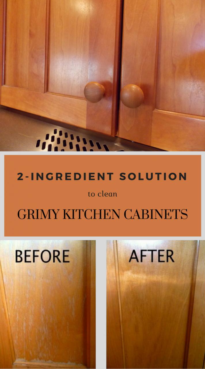 8-Ingredient Solution To Clean Grimy Kitchen Cabinets  - How To Clean And Varnish Kitchen Cabinets