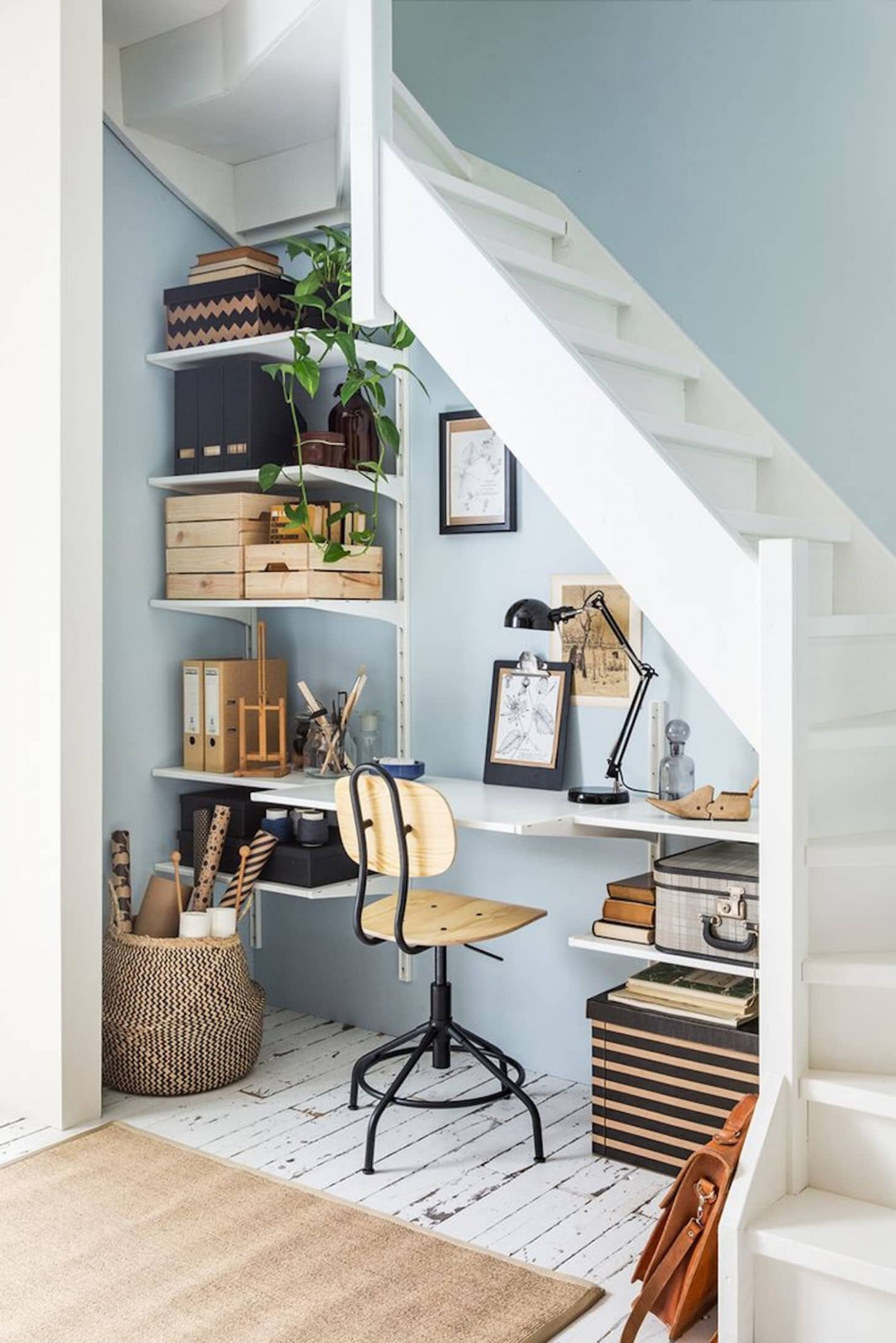 8+ Inspiring Small Home Office Ideas — THE NORDROOM - Narrow Home Office Ideas