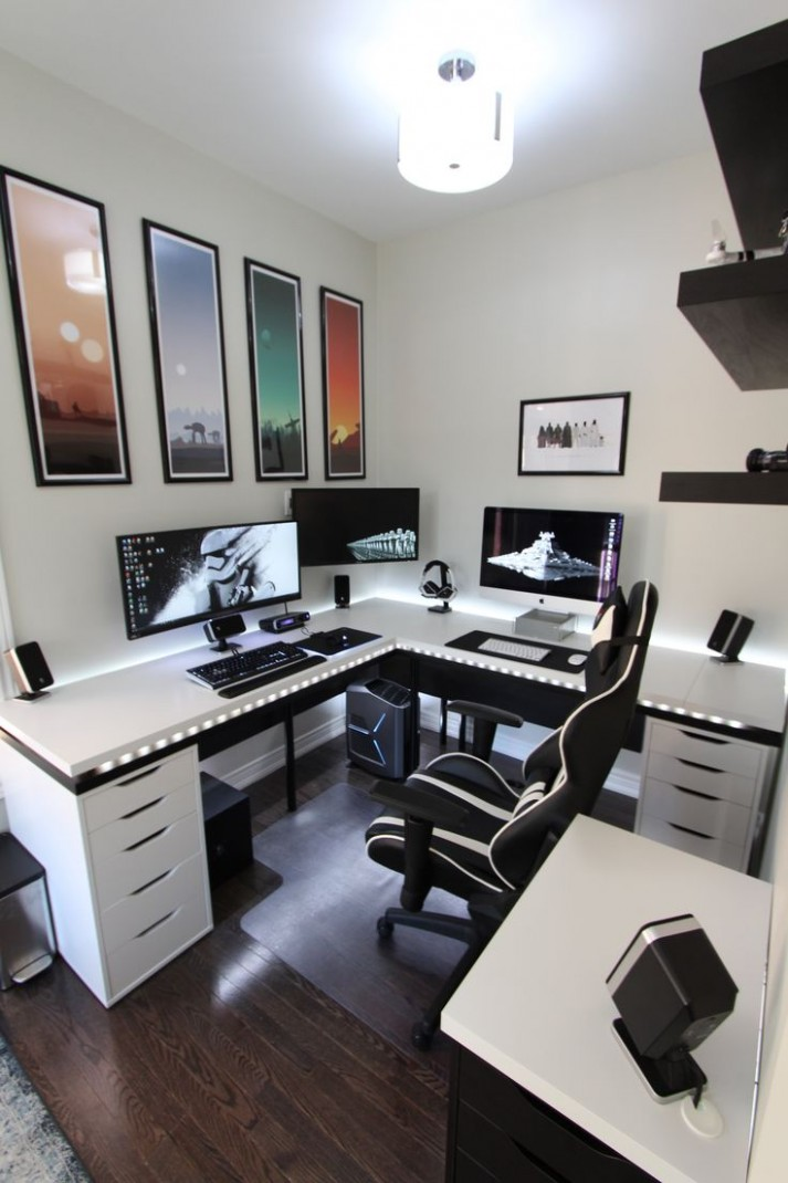 8+ Masculine Home Office Ideas & Inspirations  Man of Many - Home Office Ideas Youtube