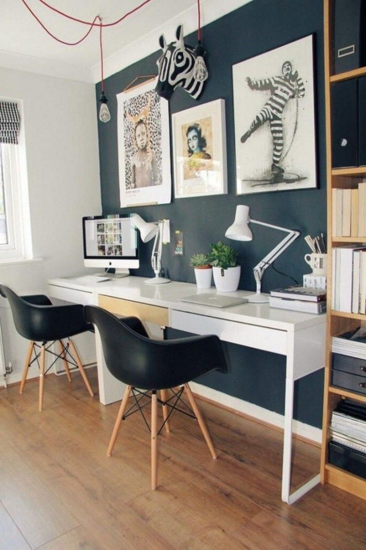 8 Modern Home Office Design Ideas For Small Apartment  Home desk  - Apartment Office Design