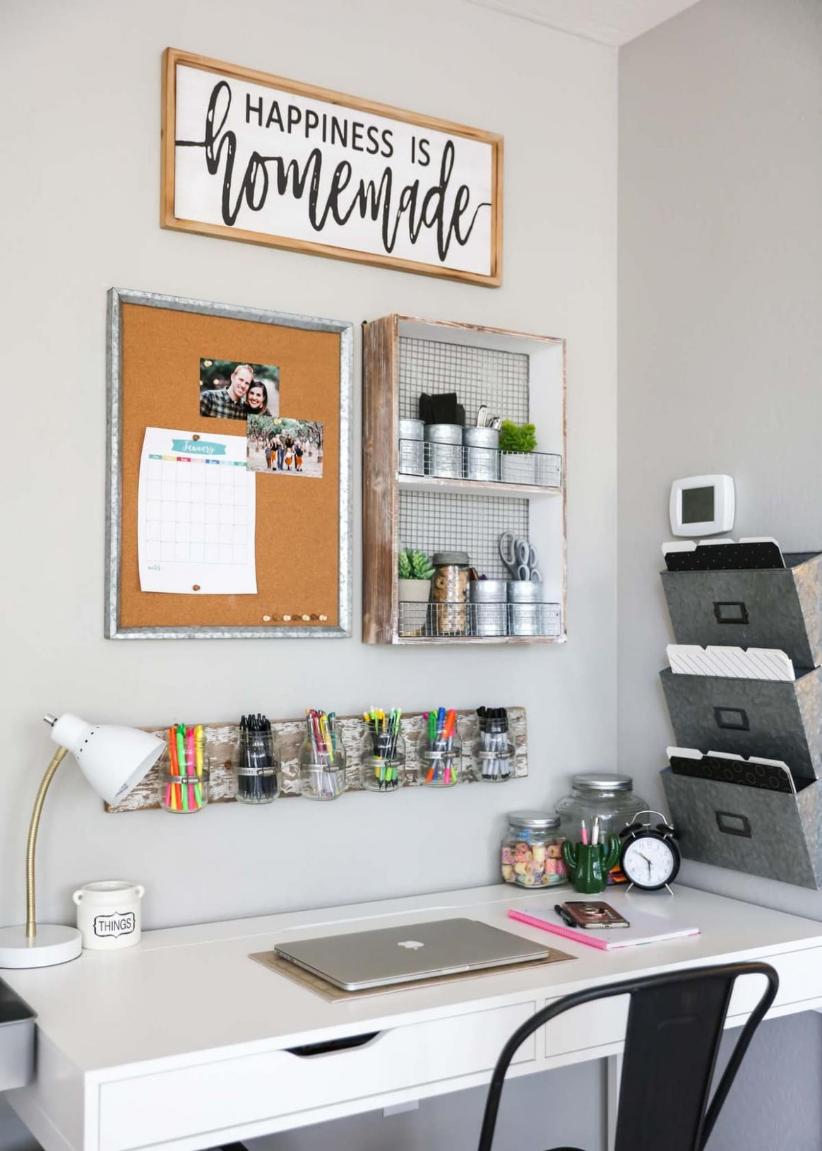 8 Office Organization Ideas - Dova Home - Home Office Ideas Organization