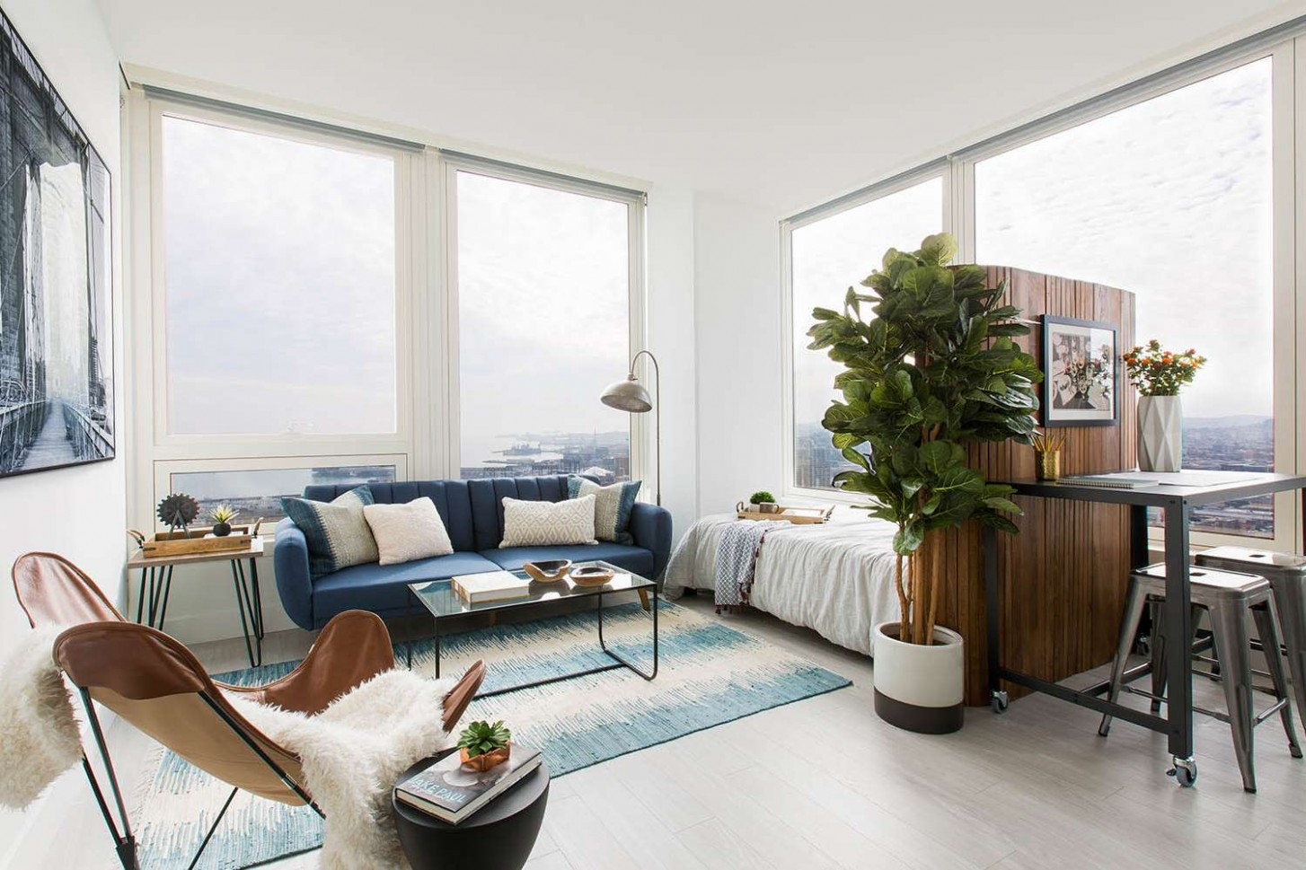 8 Perfect Studio Apartment Layouts That Work - One Bedroom Apartment Decorating Ideas With Photos