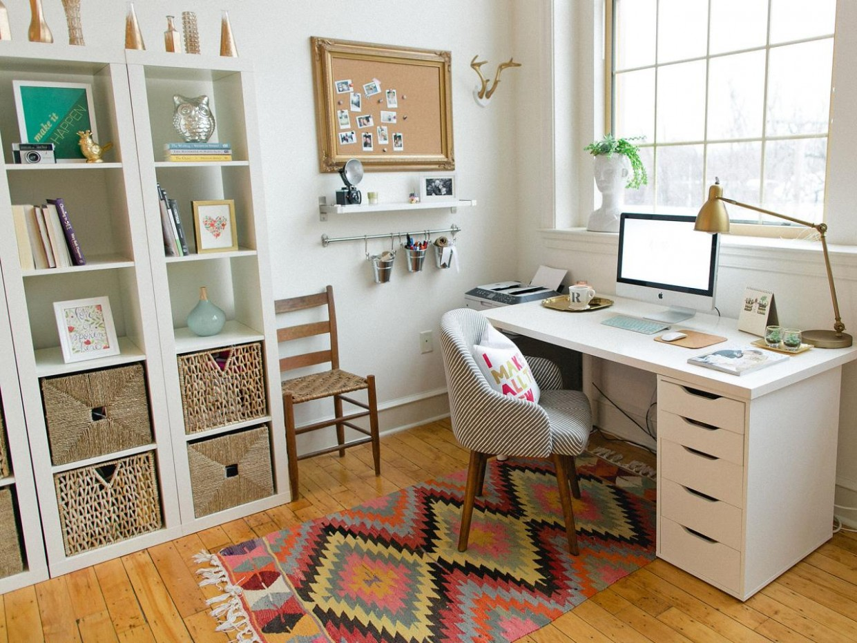 8 Quick Tips for Home Office Organization  HGTV - Home Office Organization Ideas
