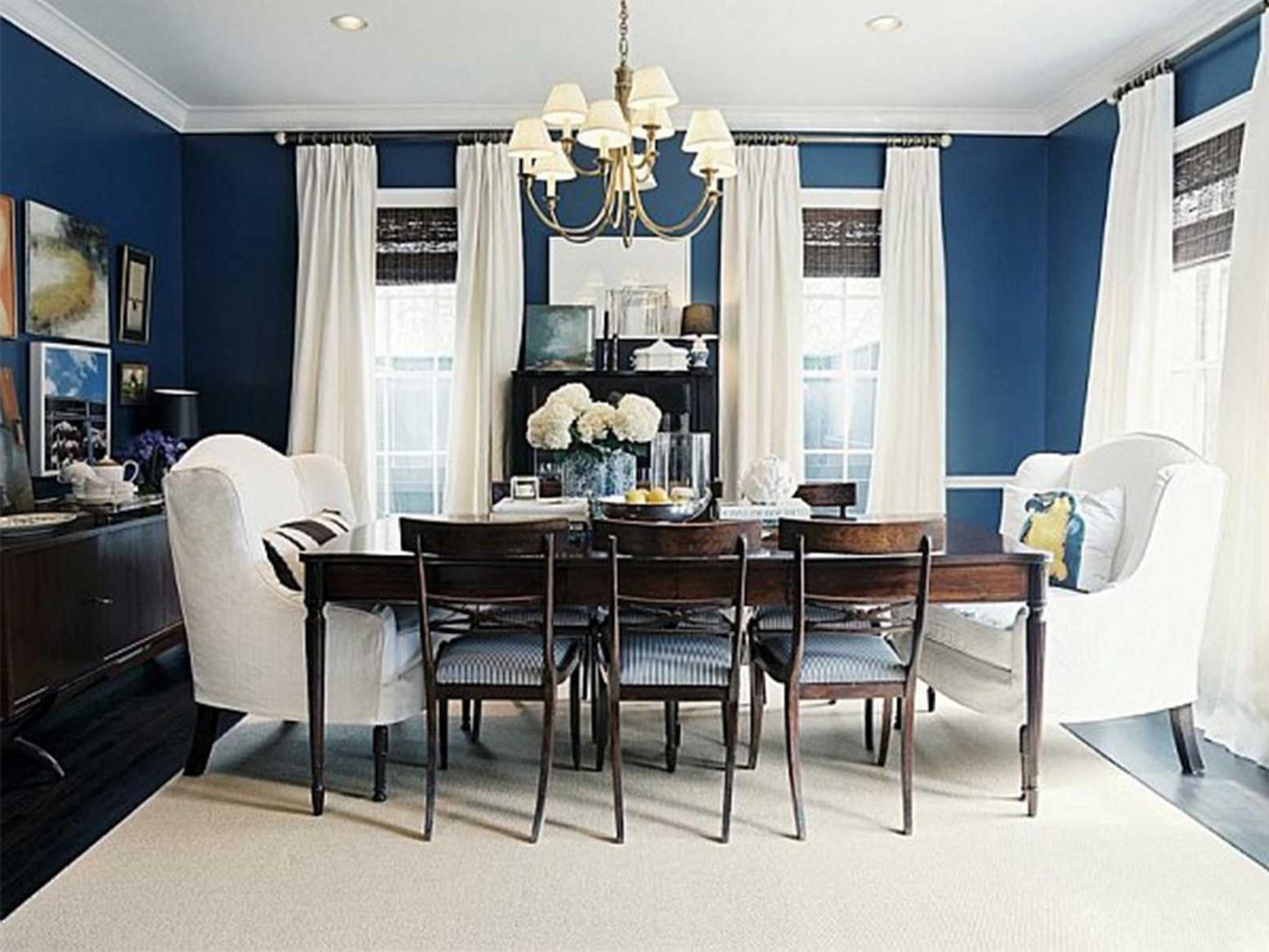 8 Romantic Style Dining Room Ideas  Dining room blue, Blue  - Dining Room Ideas Blue