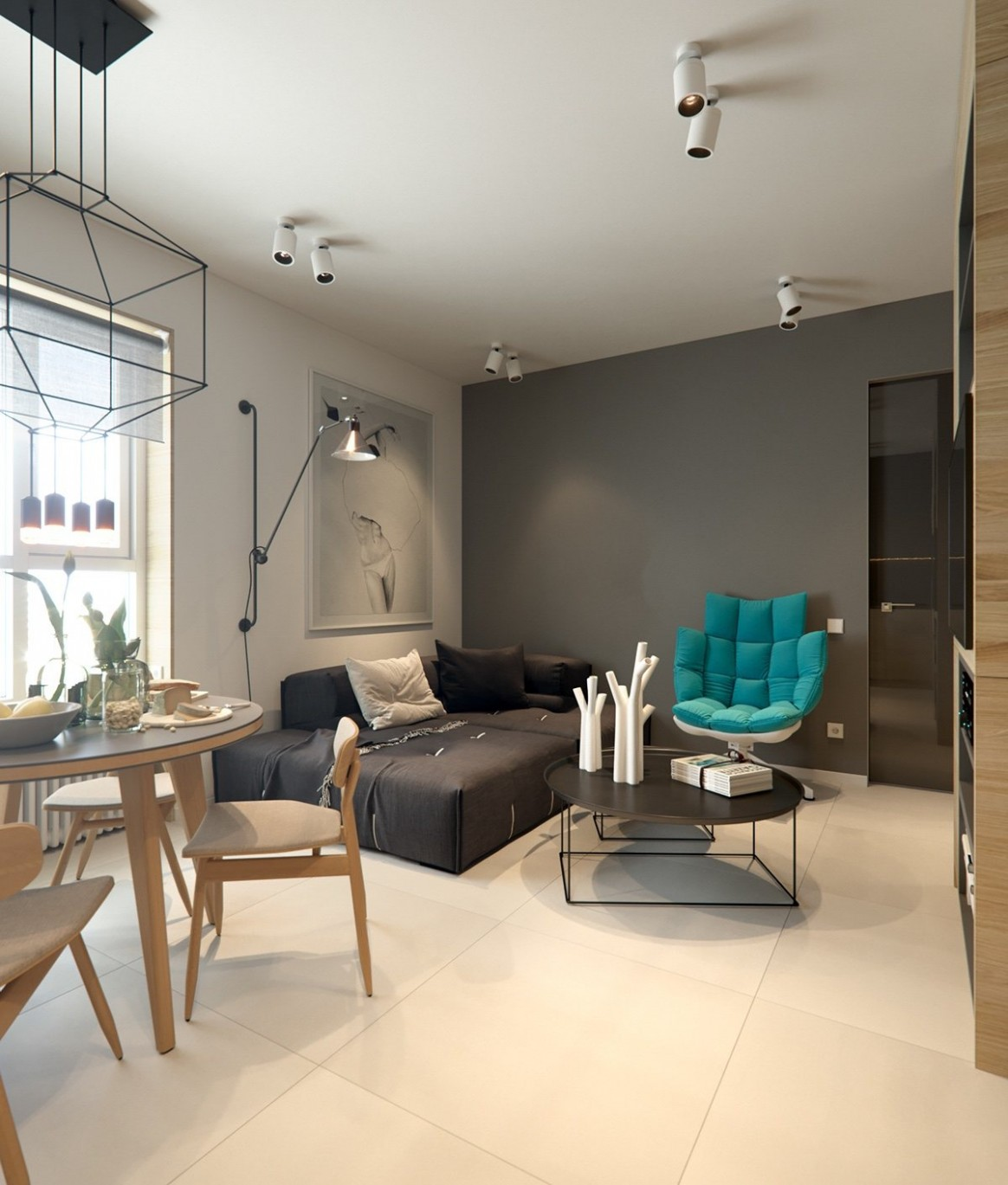 8 Small Apartment Interiors Embracing Character Themes - Apartment Design Themes