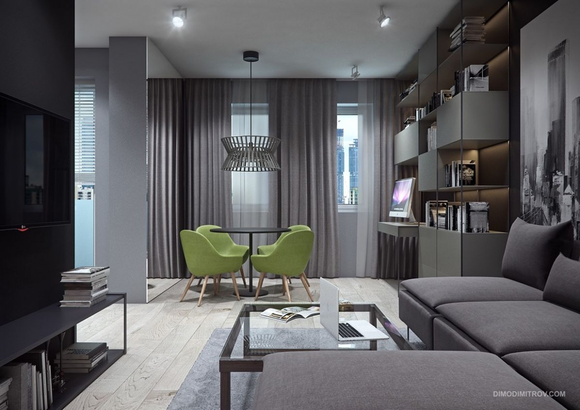 8 Small Apartment Interiors Embracing Character Themes  Small  - Apartment Design Themes