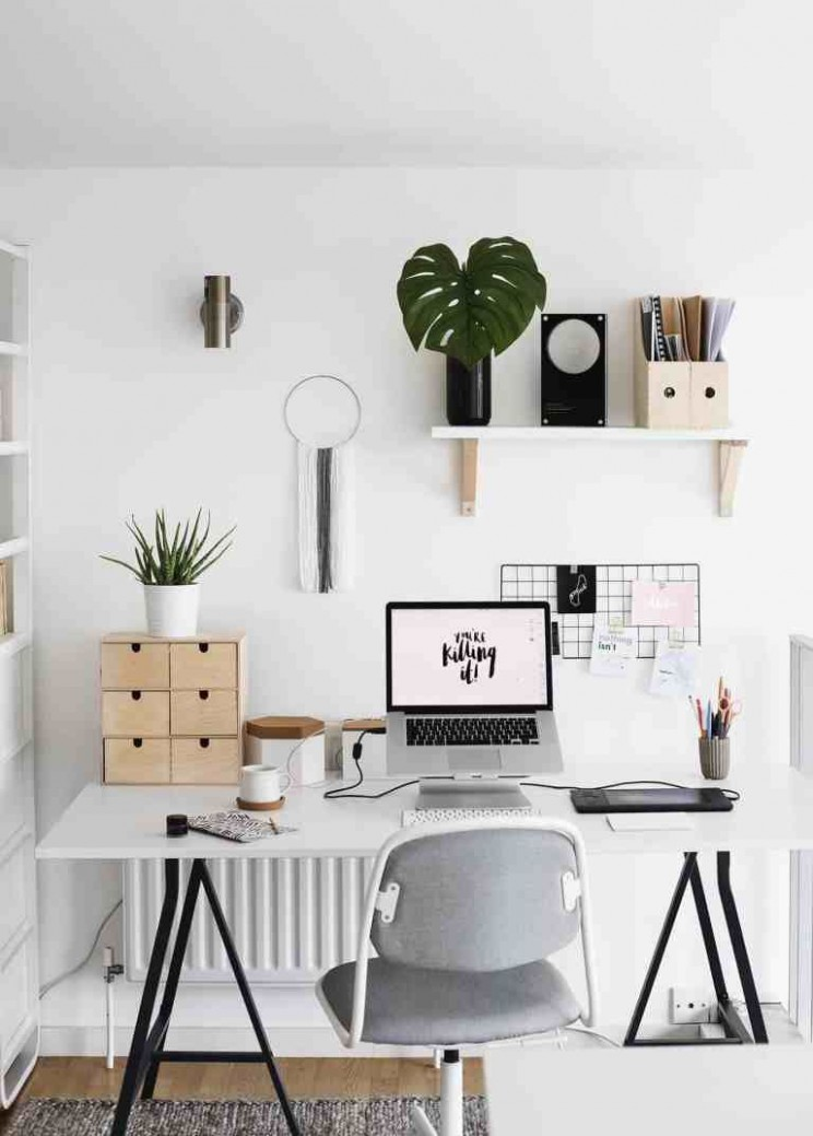 8 Small Home Office Ideas That Will Make You Want To Work  - Narrow Home Office Ideas