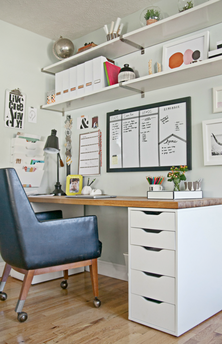 8 Steps to a More Organized Office  Home office space, Home  - Home Office Ideas With Ikea Furniture
