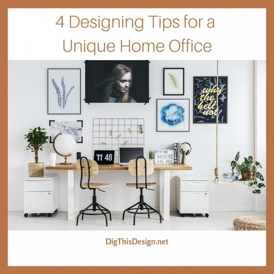 8 Steps to Design a Unique Small Office in Your Apartment - Dig  - Apartment Office Design