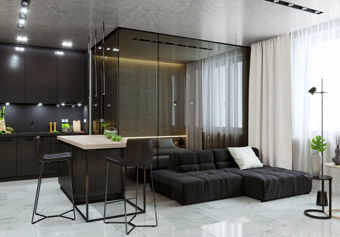 8 Studio Apartments With Inspiring Modern Decor Themes  Apartment  - Apartment Design Themes
