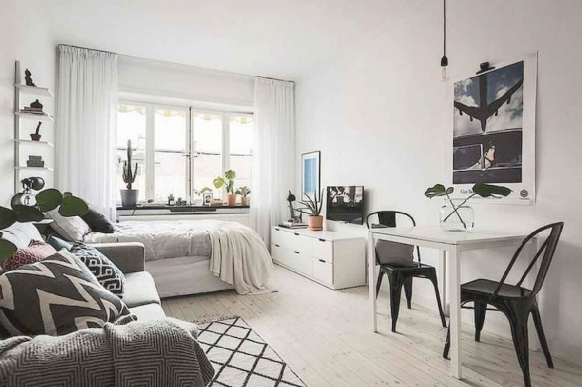 8 Stylish Studio Apartment Decorating Ideas - Doitdecor  - One Bedroom Apartment Decorating Ideas With Photos