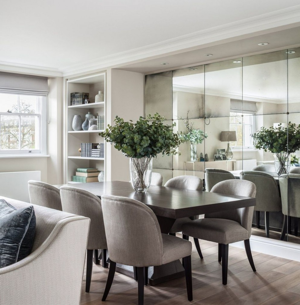 9 Amazing Wall Mirror Design For Dining Room  Mirror dining room  - Dining Room Ideas With Mirrors