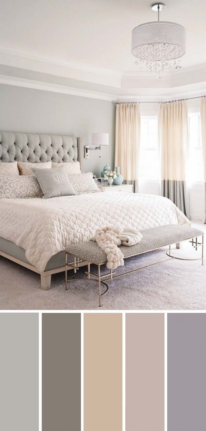 9 Beautiful Bedroom Color Schemes ( Color Chart Included  - Bedroom Ideas Neutral Colors