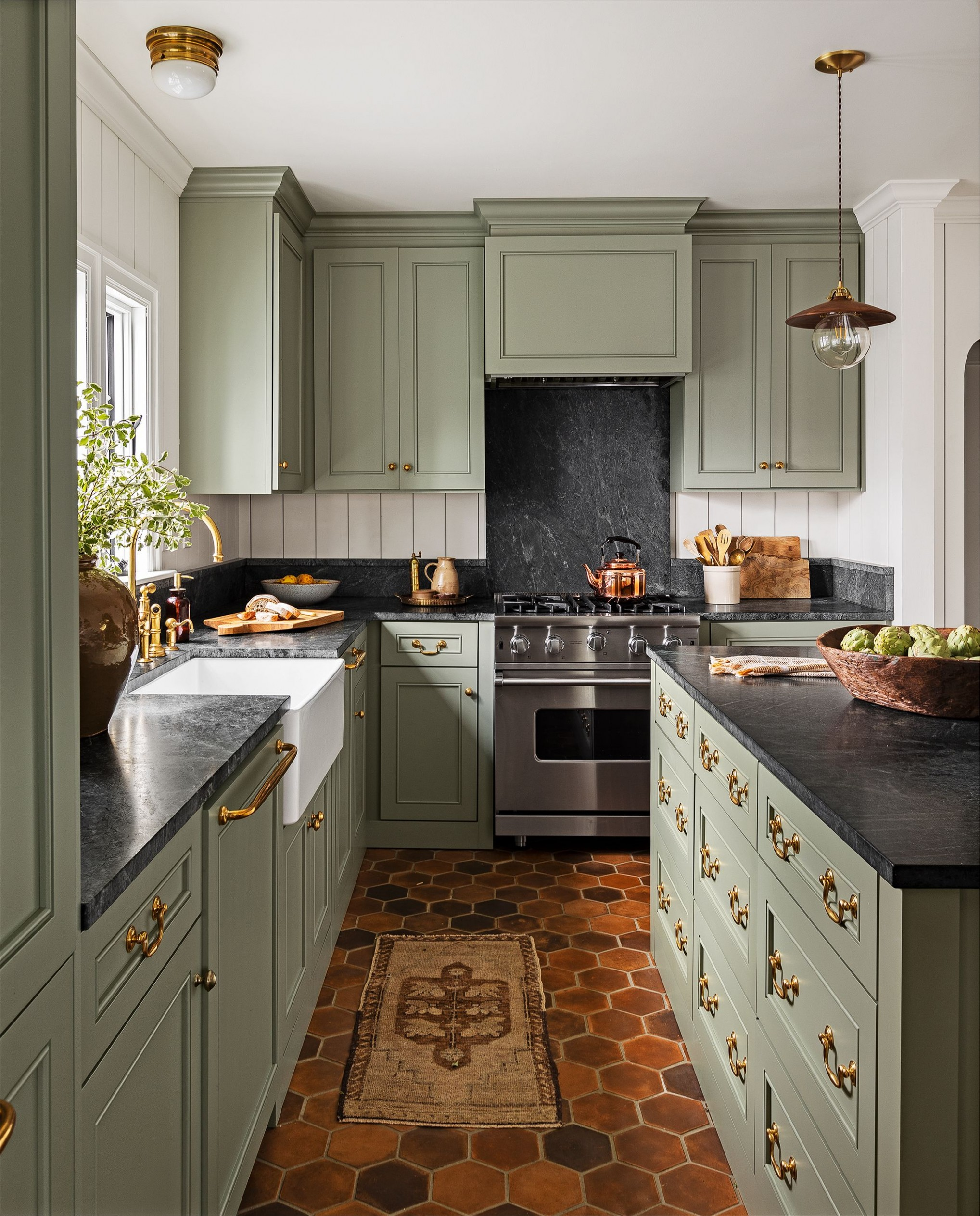 9 Best Green Kitchen Cabinet Ideas - Top Green Paint Colors for  - Go Green Kitchen Cabinets