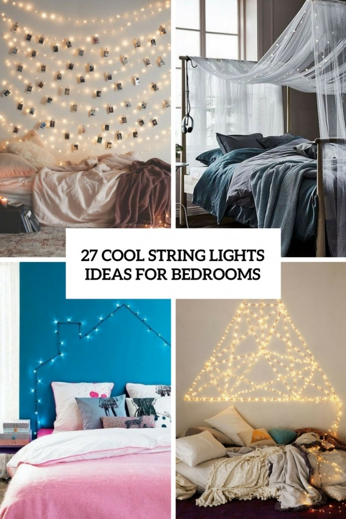 9 Cool String Lights Ideas For Bedrooms - DigsDigs - Bedroom Ideas With Lights