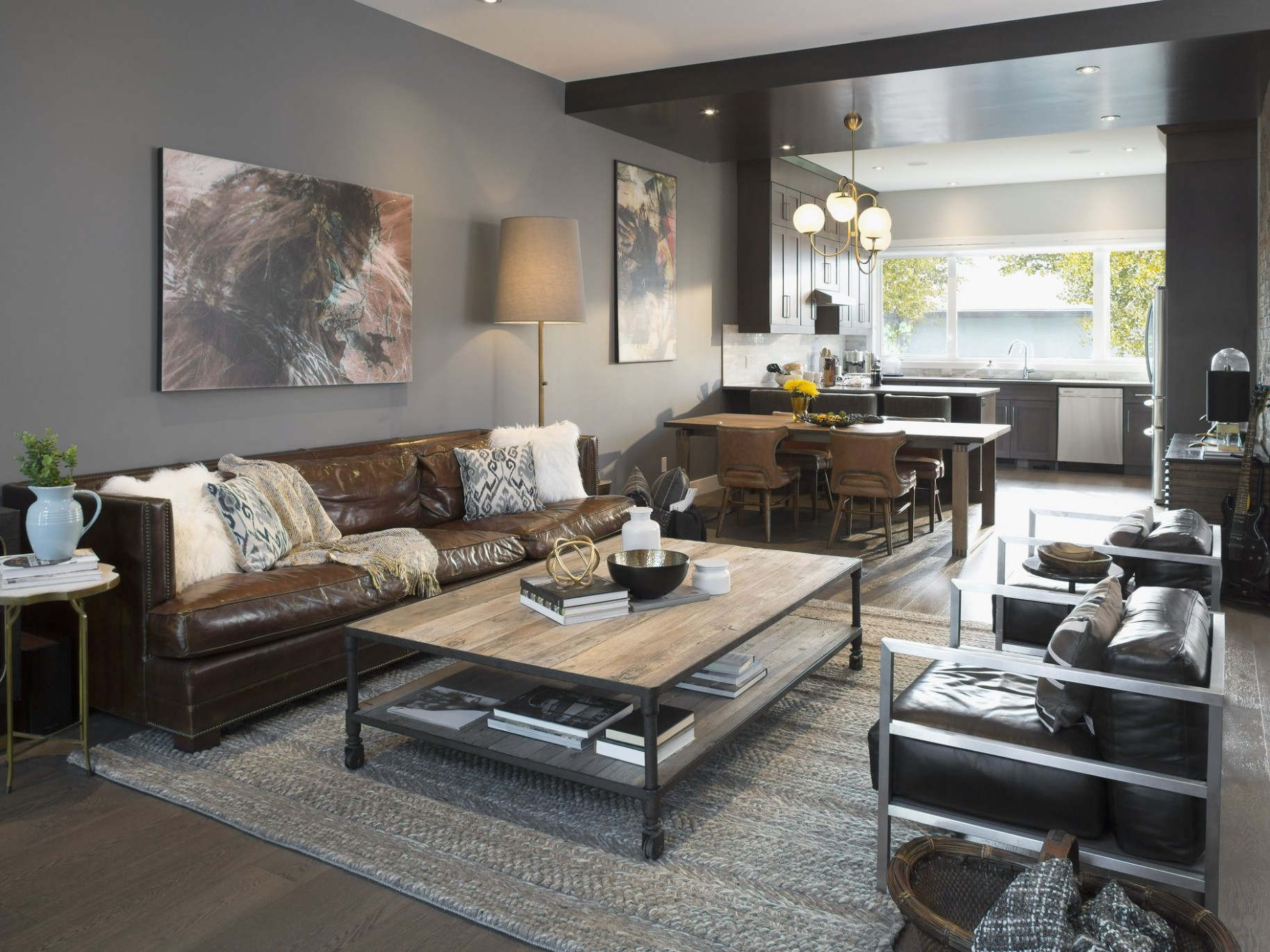 9 Elements of Modern Masculine Room Decor - Apartment Decorating Ideas Guys