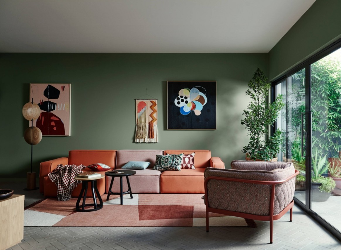 9 Gorgeous Green Living Rooms And Tips For Accessorizing Them - Dining Room Ideas Green