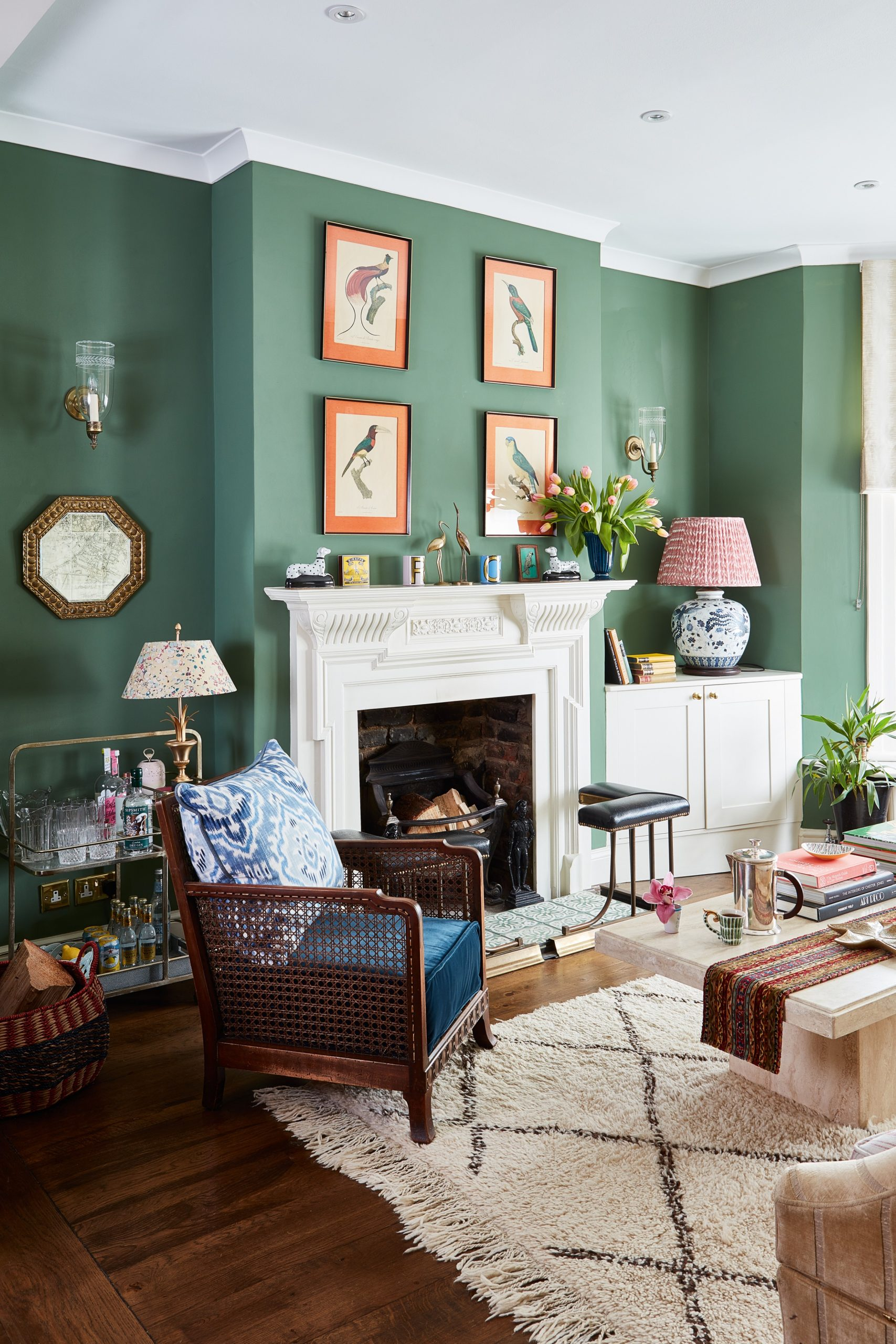 9 green living room ideas – pretty ways to use this stylish shade  - Dining Room Ideas Green