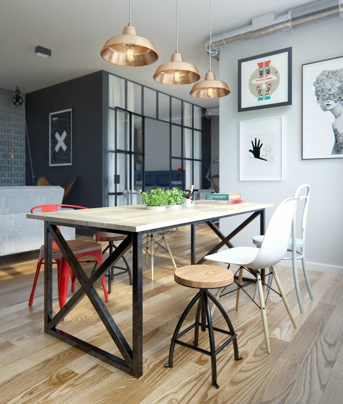 9 Ideas To Create A Trendy Industrial Dining Room Design – Dining  - Dining Room Ideas Industrial