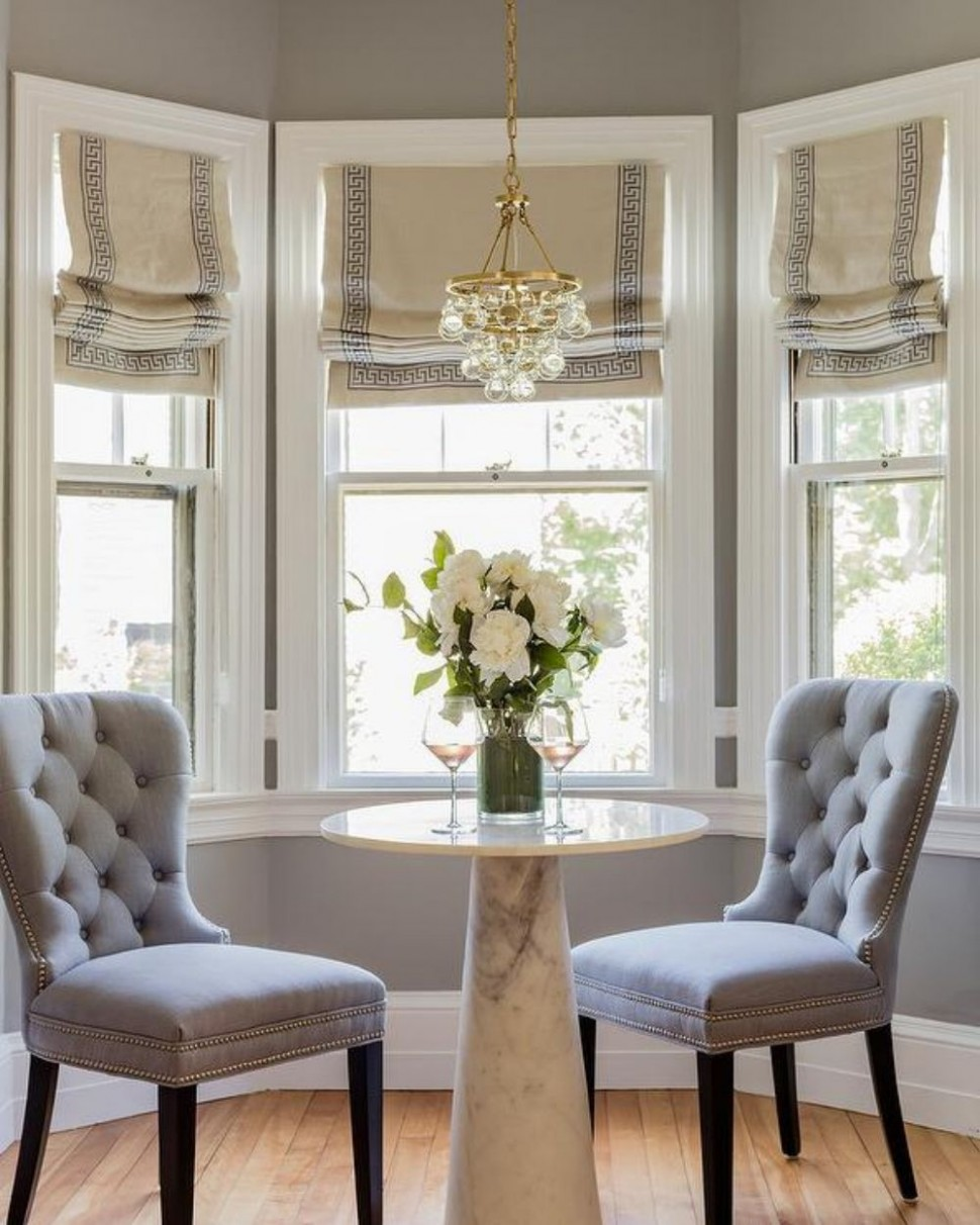 9 More Adorable Dining Nooks — Cobalt + Gold  Dining room  - Window Ideas For Dining Room
