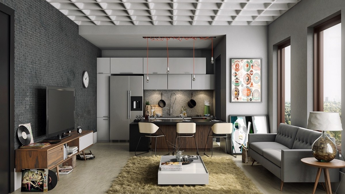 9 Open Concept Apartment Interiors For Inspiration - Apartment Design Concept