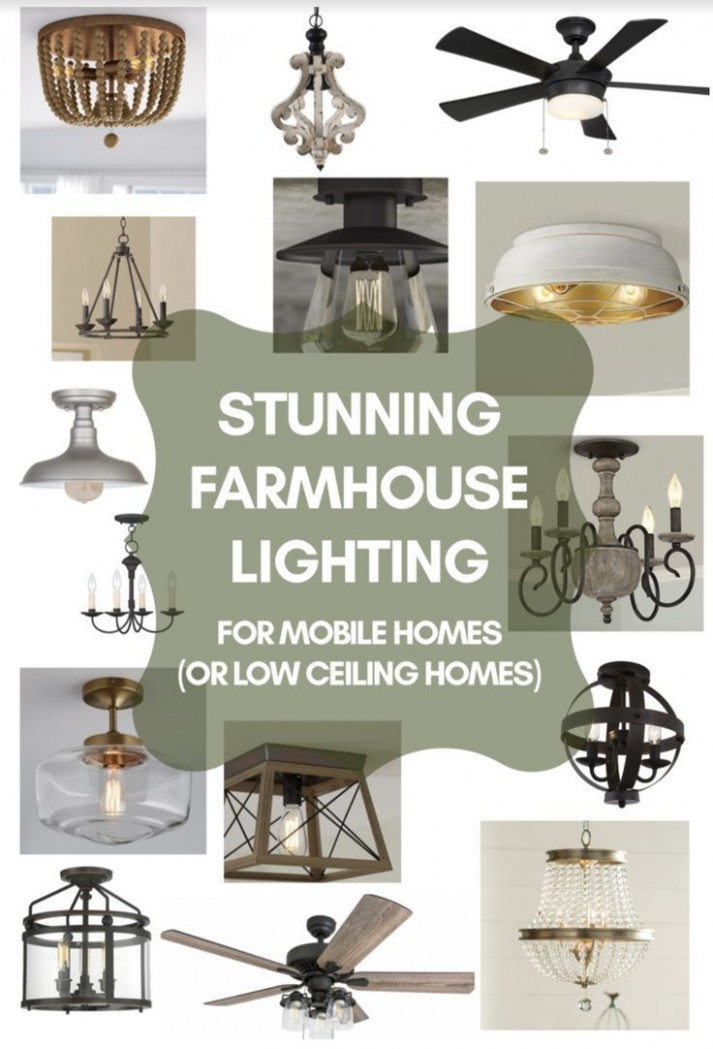 9 Stunning Farmhouse Style Light Fixtures Perfect For Low  - Dining Room Lighting Ideas Low Ceilings