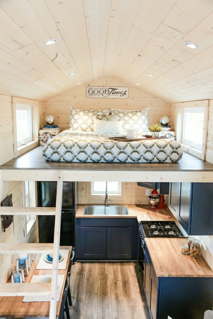 9 Stunning Tiny House With Bedroom and Loft Ideas To Inspire You  - Bedroom Kitchen Ideas