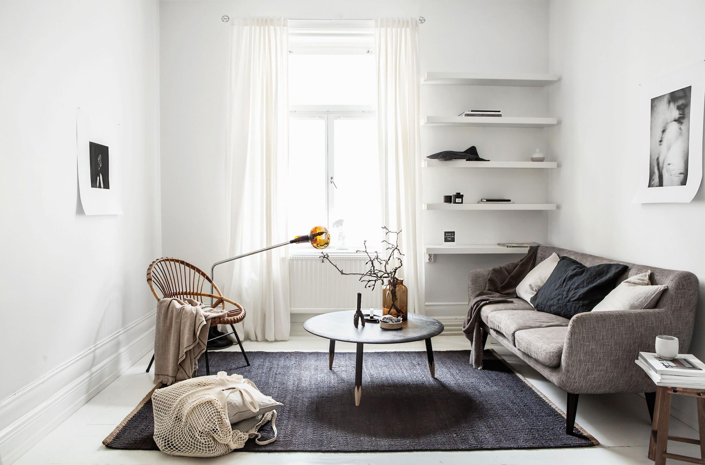9 Stylish Minimalist Living Room Ideas - Modern Living Room  - Minimalist Apartment Decor Ideas