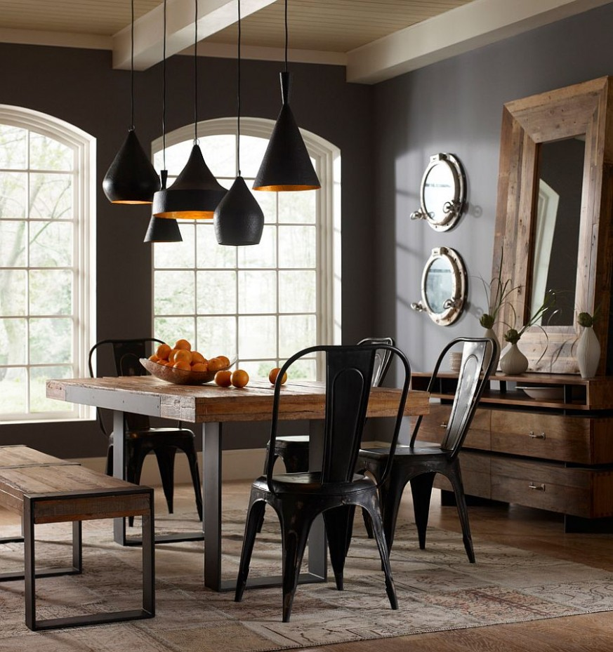 9 Ways to Create a Trendy Industrial Dining Room - Dining Room Ideas Industrial
