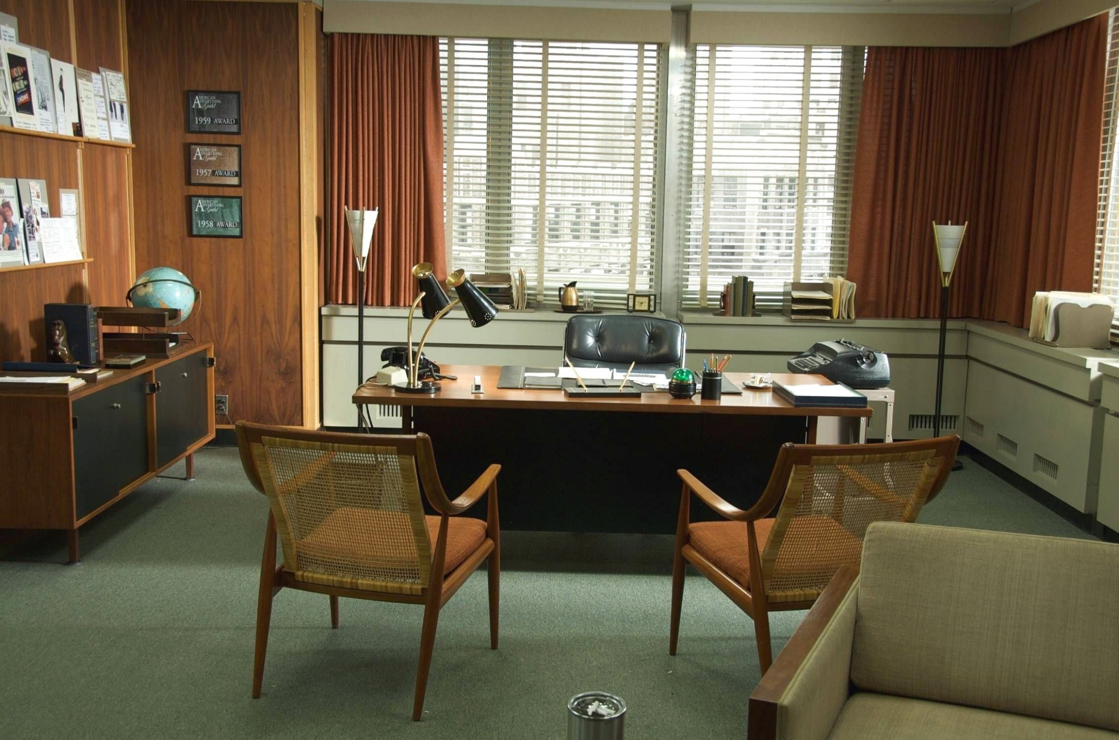 9x9 home office ideas  Mad men interior design, Mad men  - 10X10 Home Office Ideas